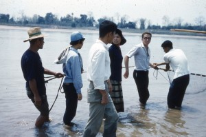 Roger Parent with students in Udorn, Thailand, 1962